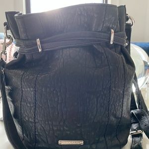 Black leather Rebecca Minkoff bag